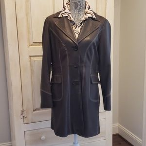 GUESS LEATHER TRENCH COAT